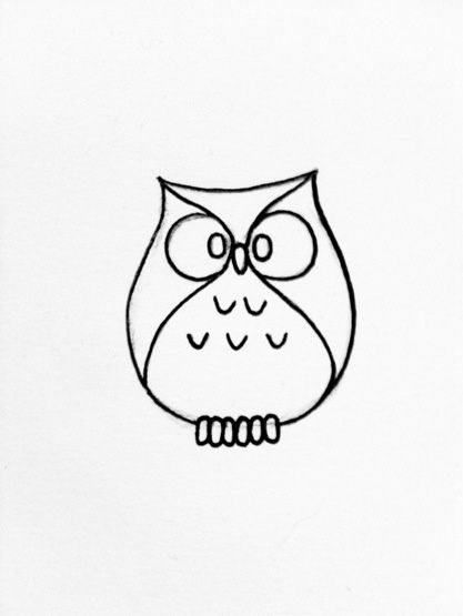 Little owl outline tattoo - photo#8