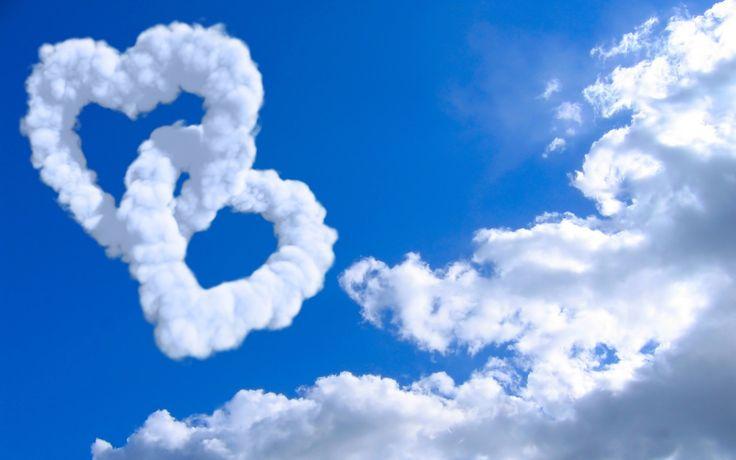 Download Wallpaper the sky, clouds, creative, mood, mood, landscapes, heart, heart, cloud, hearts, heart, section настроения Resolution 1280x800