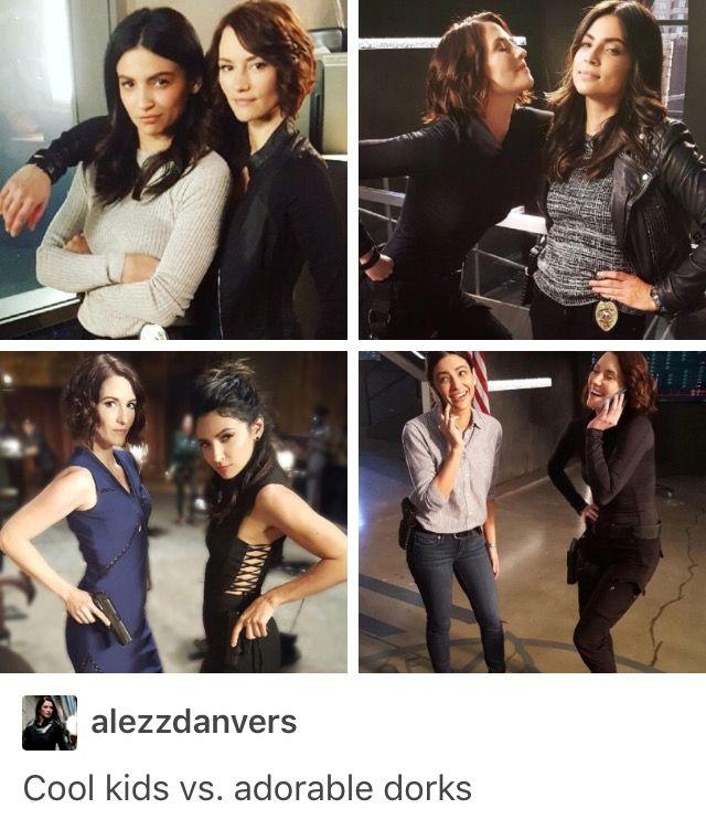 Adorable nerds - Sanvers - Alex Danvers - Maggie Sawyer - Chyler Leigh - Floriana Lima - Supergirl