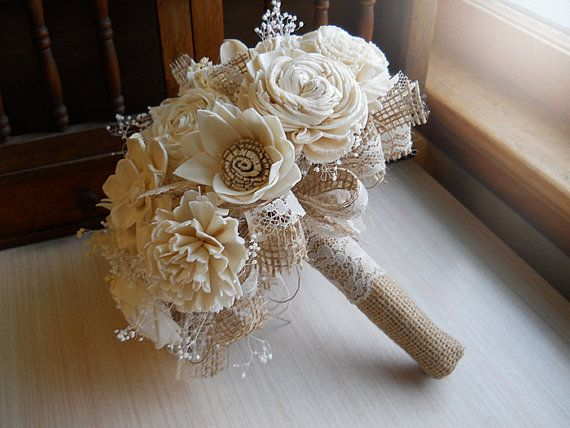 Hey, I found this really awesome Etsy listing at https://www.etsy.com/listing/210799803/rustic-shabby-chic-bouquet-cotton-rolled
