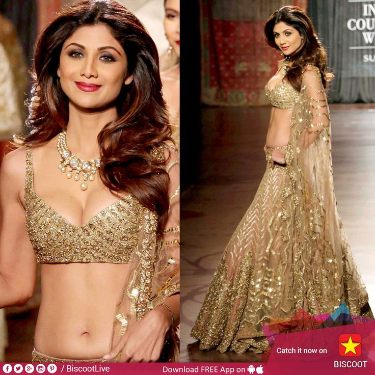 Is #ShilpaShetty displaying a little too much on the ramp? Checkout here - http://www.biscoot.com/photo-stories