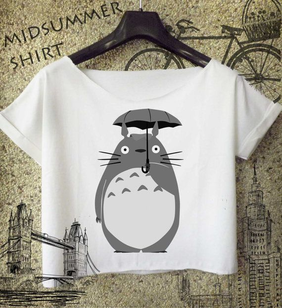 studio ghibli cropped tee inspired totoro shirt  by midsummershirt, $16.00: