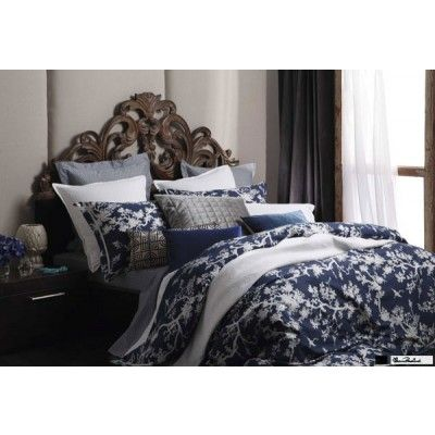The Cranes Ink Quilt Cover Set by Florence Broadhurst