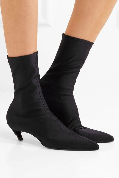 Balenciaga - Spandex Ankle Boots - Black - IT41.5