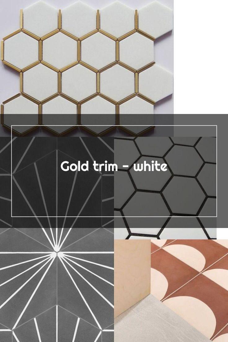 Gold trim white tile supply depot in 2020 tile