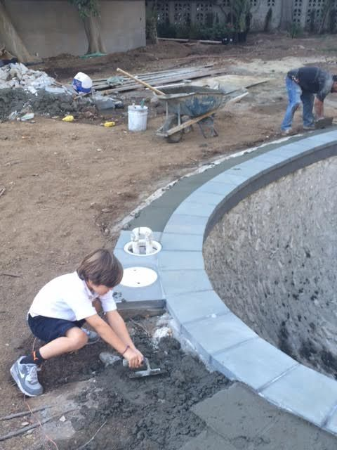 Major helping the pool guys…