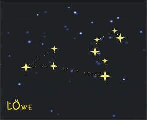Sternzeichen Löwe (Leo) – Tierkreiszeichen Löwe - Astronomie, Astrologie, Himmel, Sterne, Sternzeichen, Tierkreiszeichen, Nacht, Sternbilder, Löwe.