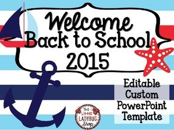 The 25 best meet the teacher template ideas on pinterest nautical theme back to school powerpoint for open house and meet the teacher toneelgroepblik Image collections