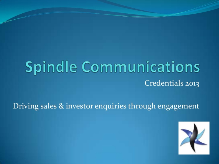 spindle-communications-credentials by Spindle Communications via Slideshare