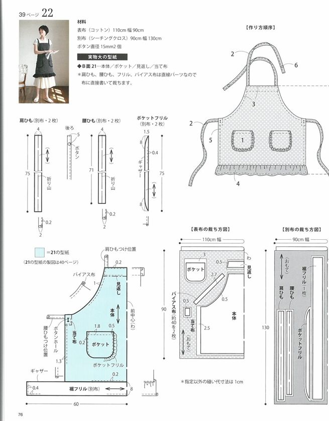 簡單裁縫時髦每日居家圍裙設計作品33款 - PChome 24h書店