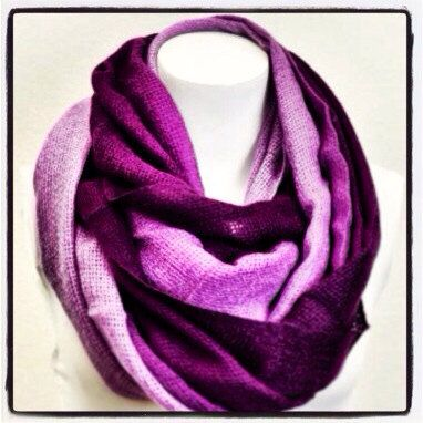 Chunky Knit Purple Infinity Scarf Purple Knit by LePetitMonkey, $32.99