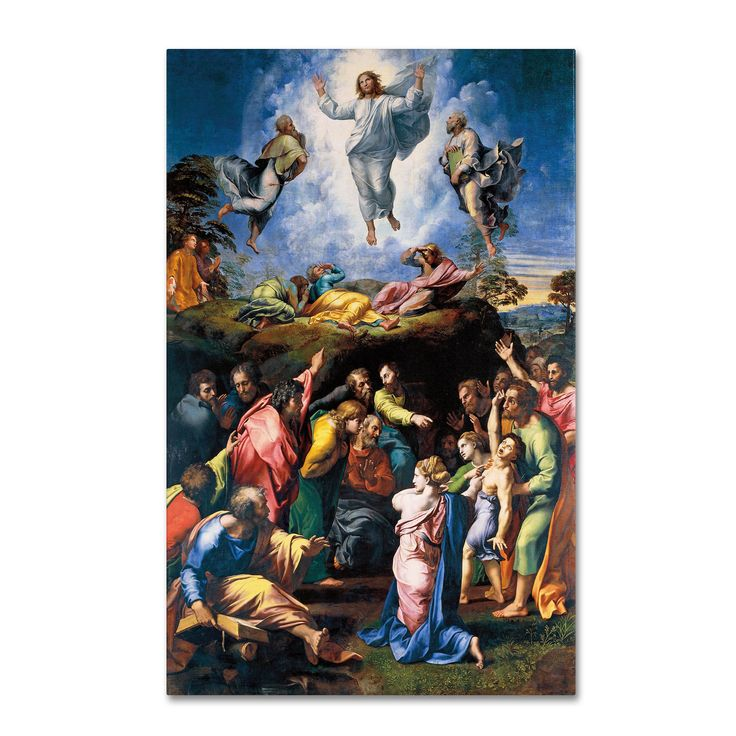 This ready to hang, gallery-wrapped art piece features Jesus Christ hovering…