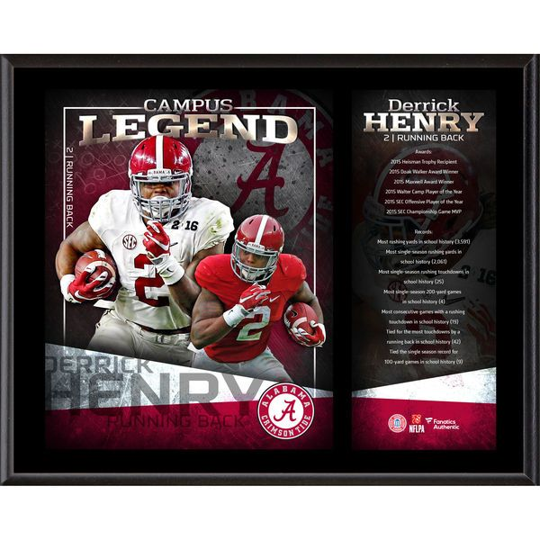 "Derrick Henry Alabama Crimson Tide Fanatics Authentic 12"" x 15"" Campus Legend Sublimated Player Plaque - $39.99"