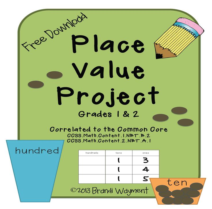 This free Place Value Project download is a hands-on activity to help your students understand that every digit has a place and a value.
