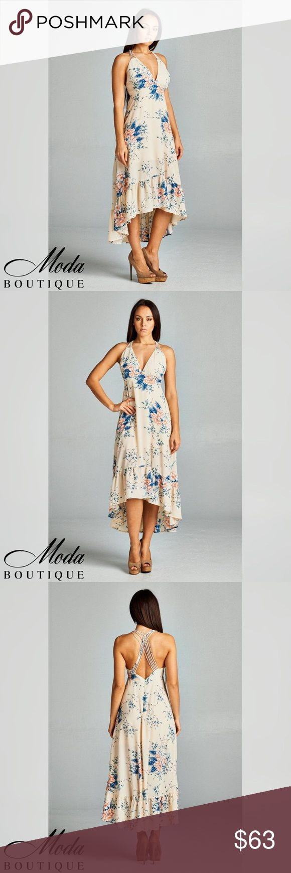 """Sexy Flower 49"""" Maxi Dress Sexy Flower 49"""" Maxi Dress Color Beige / Blue Model wearing a small Material100% Polyester Notes: These are quality boutique garments, not something off a Chinese website! They are the same pieces that are resold in popular stores like Nordstrom's, Saks Fifth, and higher end boutiques. Free People Anthropologie Urban Outfitters Madewell Modabyboutique Moda Boutique Moda SF SFmoda wholesale @wholesales boutique clothing A.Peach Dresses Maxi"""