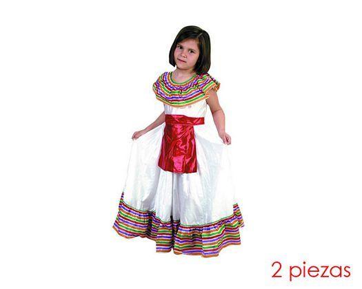 Disfraz de mejicana niña talla 4, 10-12 años 9.94 €.