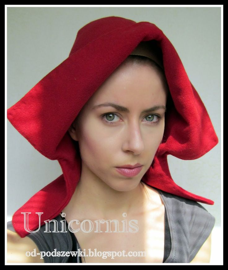 Medieval open hood.  by Unicornis