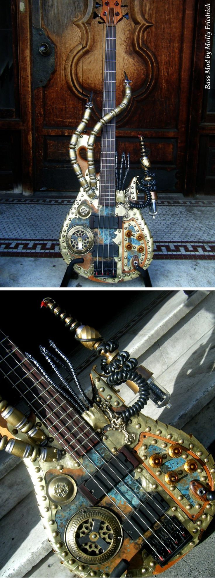 I love playing my bass guitar. Now this would be a cool bass to have :)