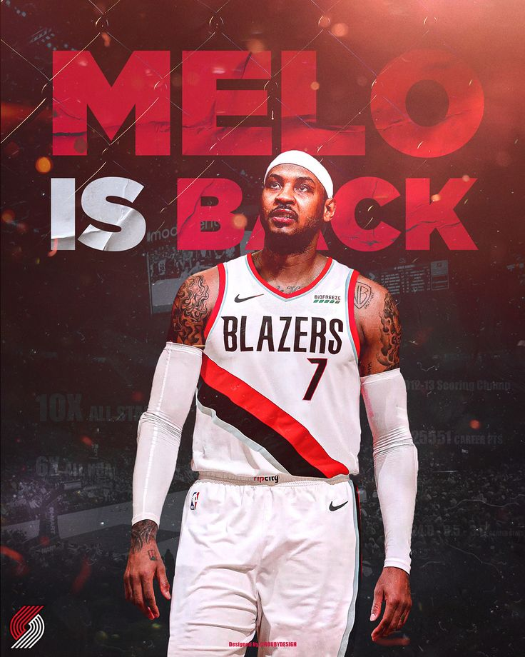 MELO is BACK on Behance Nba stars, Nba sports, Carmelo
