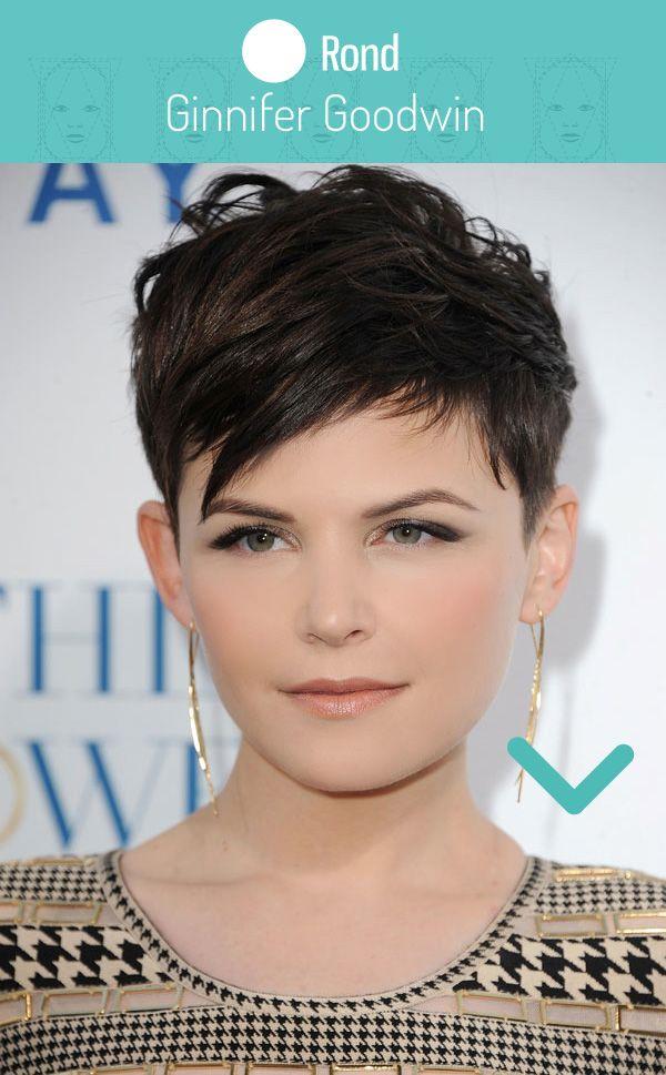 Visage rond coupe et coiffure pour femme                              …