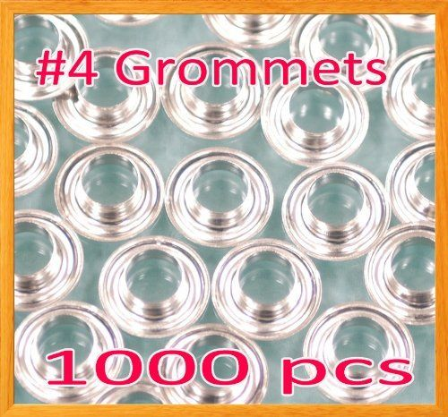 """1000 #4 1/2"""" Grommet and washer Nickel Eyelet Grommets Machine Sign Punch Tool by Display Sign Mart. $18.99. Hole Size = 1/2"""" Flange Diameter = 13/16"""" Flange Height = 0.5"""" Please make sure your current die set is compatible w/ our grommet, we also have a die set for sale only 10.00 extra. Check out my special offer !"""