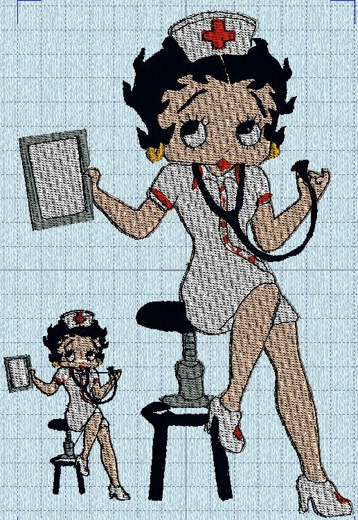 betty boop infirmiere01 Machine