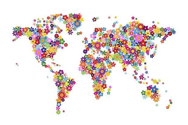 Flowers World Map