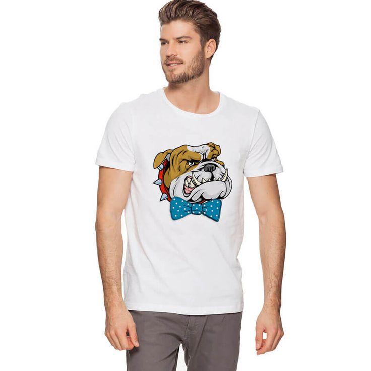 Centilmen Köpek Çok Kızgın Ama Papyon Takacak Kadar Centilmen Kızgın bir buldok köpek ve mavi renkli bir papyonu kendine yakıştırmış, kızgın olduğundan daha çok sevimli görünmüyor mu ?  #tişört #buldok #pitbull #tshirt https://modacix.com/kopek-tisort