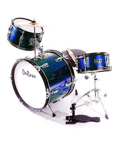 Look what I found on #zulily! Blue De Rosa Three-Piece Kid's Drum Set #zulilyfinds