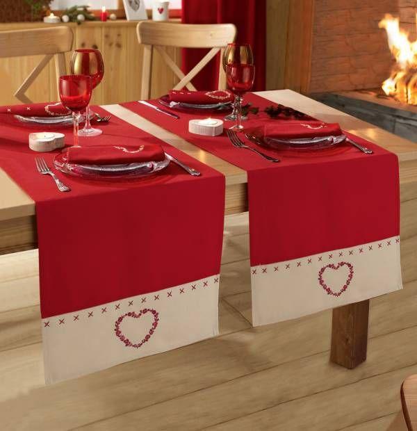 Coeur d'amour, une table de fête tout en raffinement... #tableraffinee #tablenoel #francoisesaget