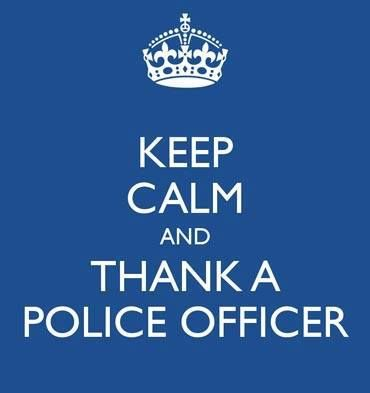 """Yesterday, Jan. 9th was National Law Enforcement Appreciation Day. If you didn't do it yesterday, please take a moment today to say """"Thank you"""" to an Officer. ♥ They truly deserve it. ༺ß༻"""