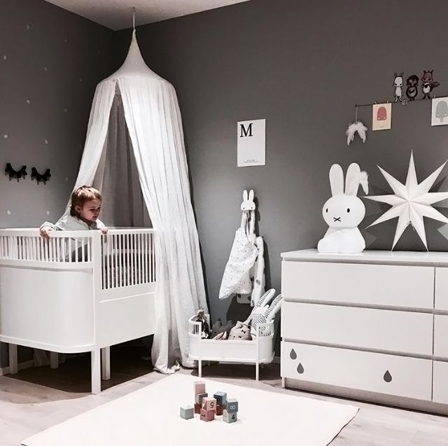 A dreamy grey and white kid's room - Is To Me