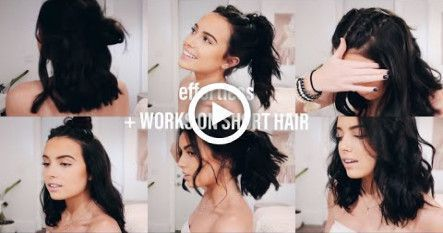9 Quick & Easy Hairstyles | WORKS ON SHORT HAIR | (mostly heatless) #hair #diy #…