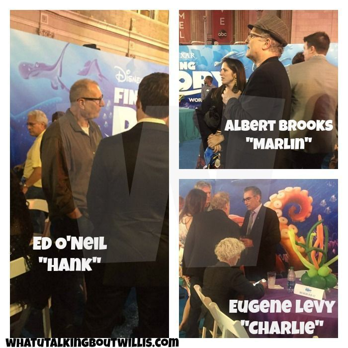 Finding Dory Voice Actors Ed O'Neill, Albert Brooks, Eugene Levy