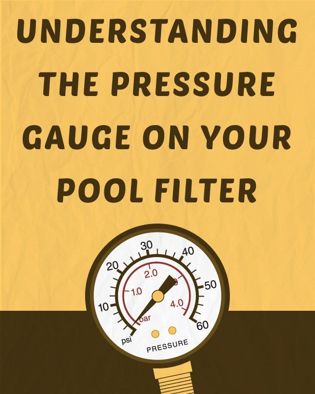 You can read the pressure on your pool filter pressure gauge and use that number (PSI) as a guide to properly care for your pool.