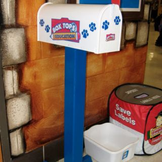 Box top mailbox for school collection @Rose Milton