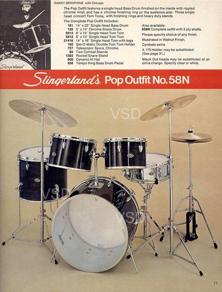 from 1977 1978 slingerland drum catalog single headed pop outfit w chicago drummer danny. Black Bedroom Furniture Sets. Home Design Ideas