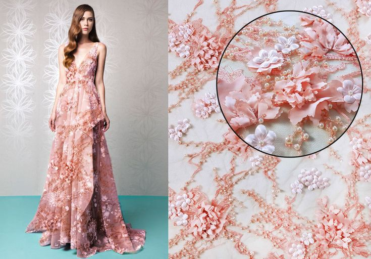 This haute couture handmade lace, embroidered with beads, pearls and 3D flowers is available now here: https://www.malagoli.ro/en/product/md-221 Get inspired by this look for a perfect evening gown.  #MalagoliFabrics #Fabrics #Lace #HauteCouture #Fashion #Dress #Gown #Embroidery