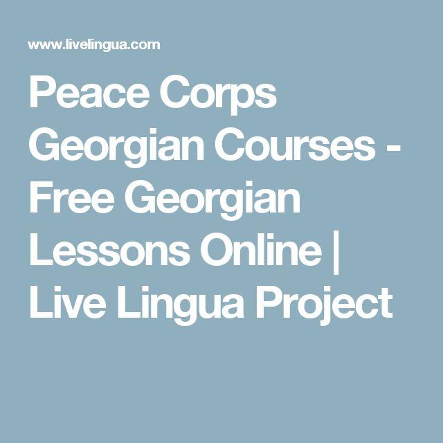 Peace Corps Georgian Courses - Free Georgian Lessons Online | Live Lingua Project