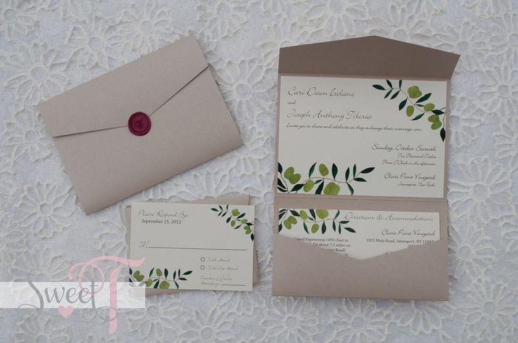 Wedding #invitation #Italian #vineyard- Sweet T Creates