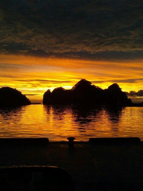西伊豆町田子の夕陽