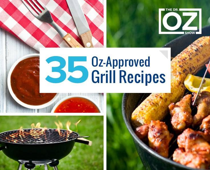 35 Dr. Oz-Approved Grill Recipes @D R. Mehmet Oz Follow us on Facebook here: http://www.facebook.com/diyncrafts