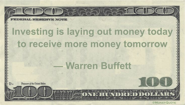 Warren Buffett Money Quotation makes the concept of investing simple by showing that it involves putting a hold on collecting the reward in order to increase profit. Investing is laying out money today to receive more money tomorrow — Warren Buffett Related posts:Robert Kiyosaki Money Quote on Reality of Money (12) New $10 Bill Released …