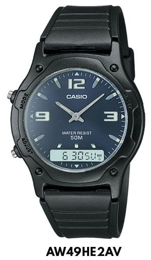 Reloj Casio Analogico Digital Cronometro Aw49 Hora Doble - $ 649,90 en Mercado…
