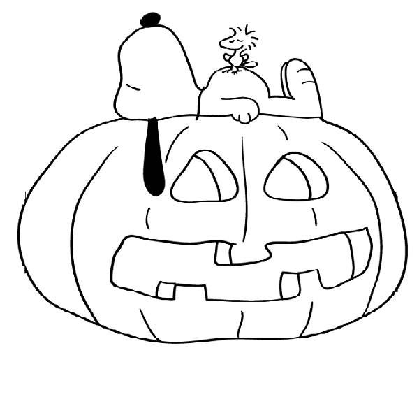 peanuts coloring pages halloween | 222 best images about Snoopy Coloring Pages on Pinterest ...