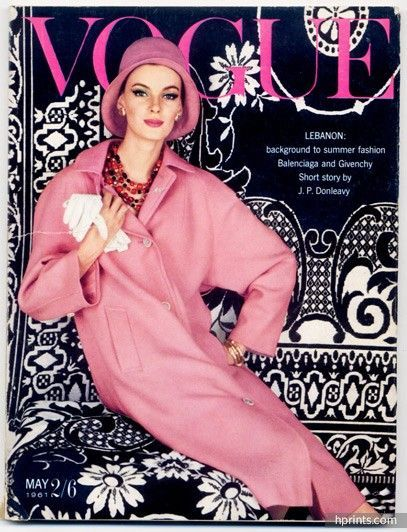 UK Vogue British Magazine 1961 May, The Lebanon, Christian Dior at Paris and London, Balenciaga, Givenchy, William Klein