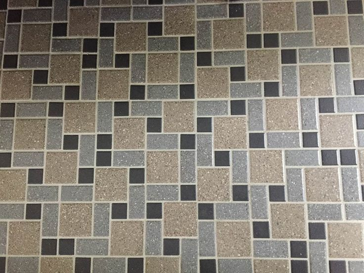 Captivating Midcentury Mosaic Floor Tile