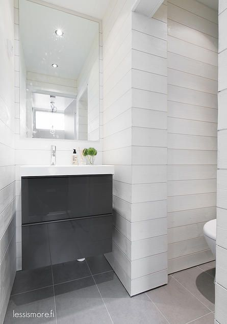 Less Is More - white and grey bathroom