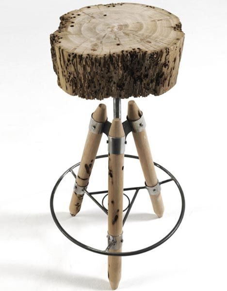 raw-wood-metal-stool