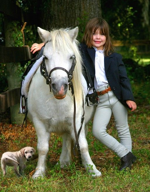 Girls and their ponies...yeah up can se my grand-daughter one day like this